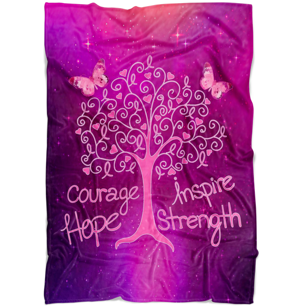 Cancer Living Tree - Blanket - Monarch Graphics & Design