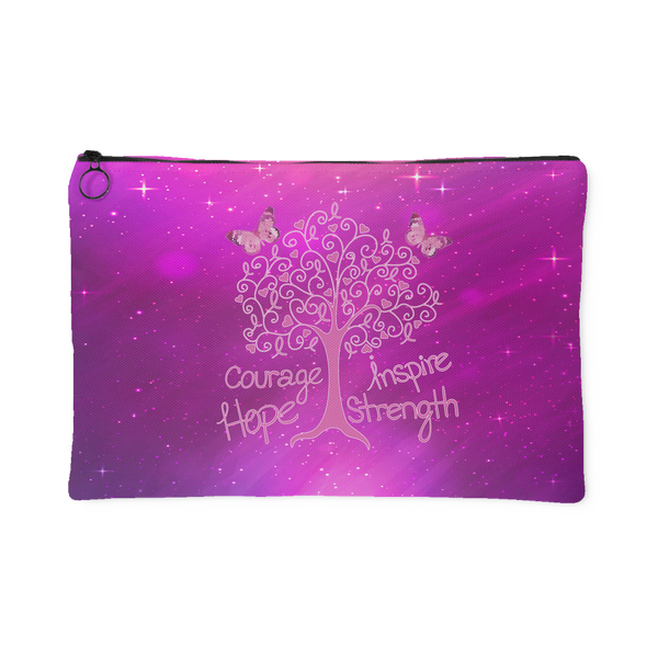 Cancer Living Tree - Accessory Pouch - Monarch Graphics & Design
