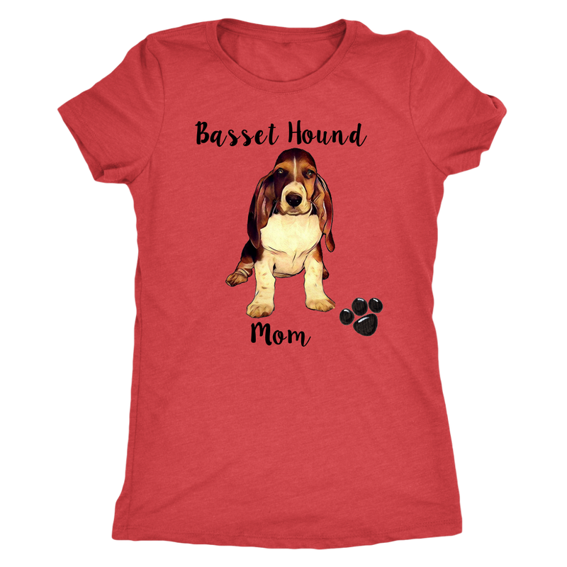 Basset Hound Mom - Monarch Graphics & Design