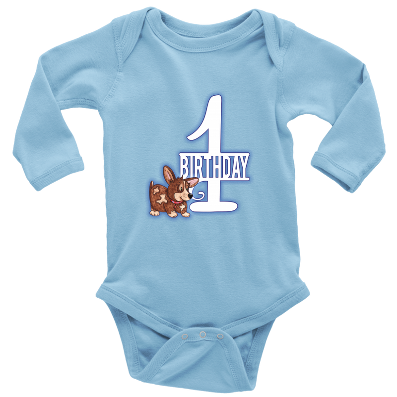 1st Birthday - Blue Puppy - Monarch Graphics & Design