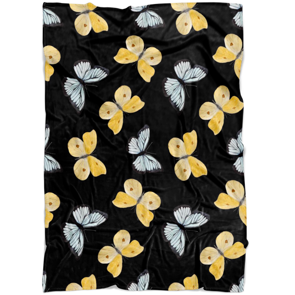 Black & Yellow Butterflies - Blanket - Monarch Graphics & Design