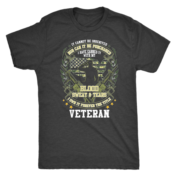 Blood, Sweat, & Tears - Veteran - Monarch Graphics & Design