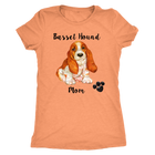 Basset Hound Mom -Puppy - Monarch Graphics & Design