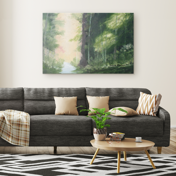 Forest with River | Carrie Theroux's Painting - Monarch Graphics & Design