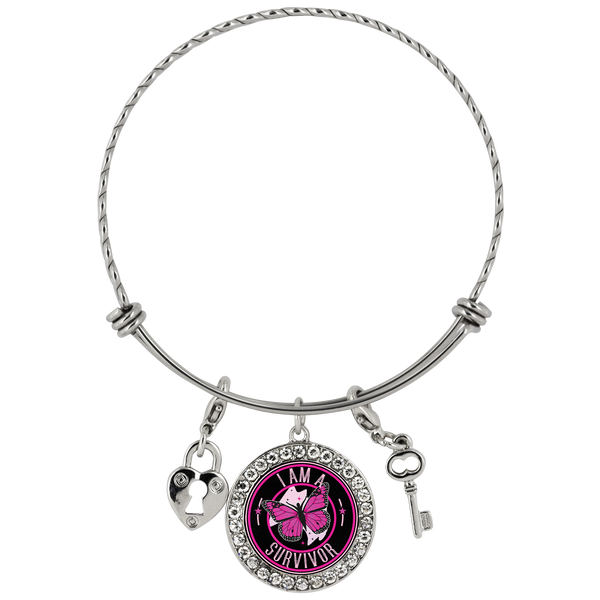 I Am A Survivor - Pink - Bracelet - Monarch Graphics & Design