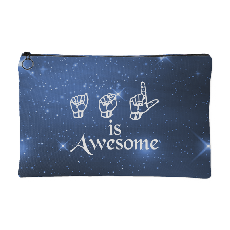 ASL is Awesome - Accessory Pouch - Monarch Graphics & Design