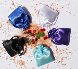 Satin Charmed Pouches for protection