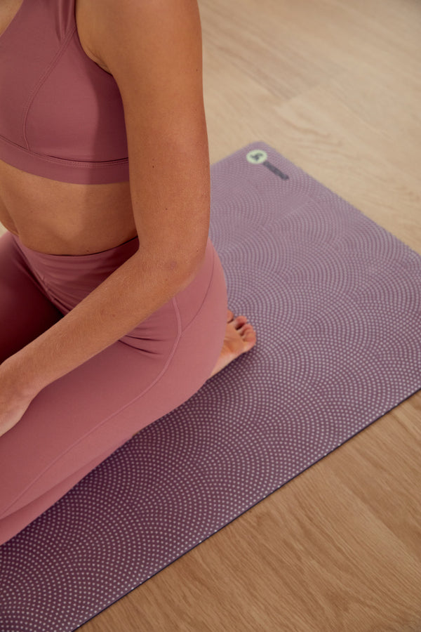 yoga mats eco friendly non slip grip pink yoga mat