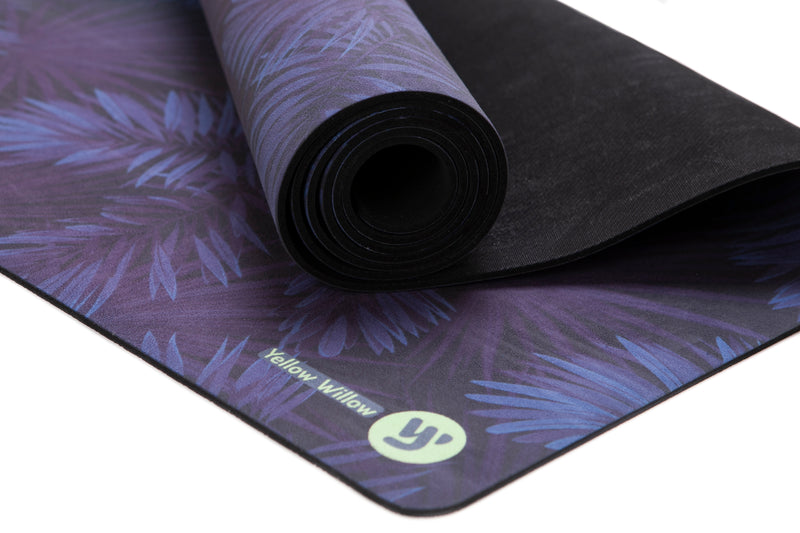 Unisex Print Yoga Mat: MIDNIGHT PALM