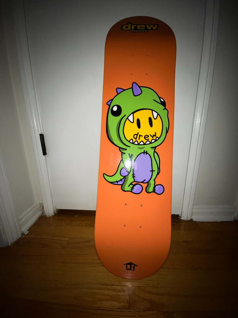 dinodrew skate deck - burnt orange