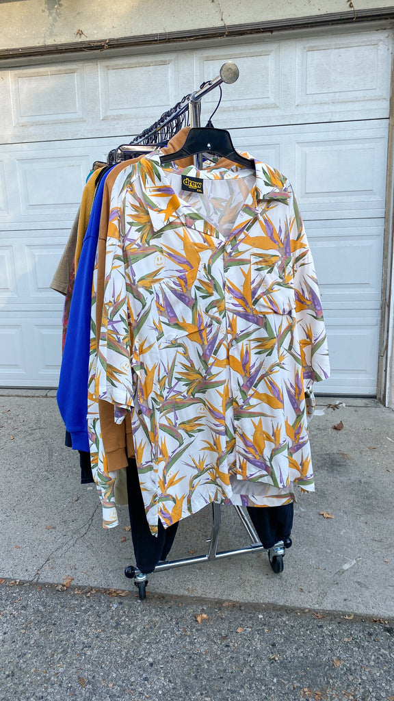 rayon camp ss shirt - birds of paradise