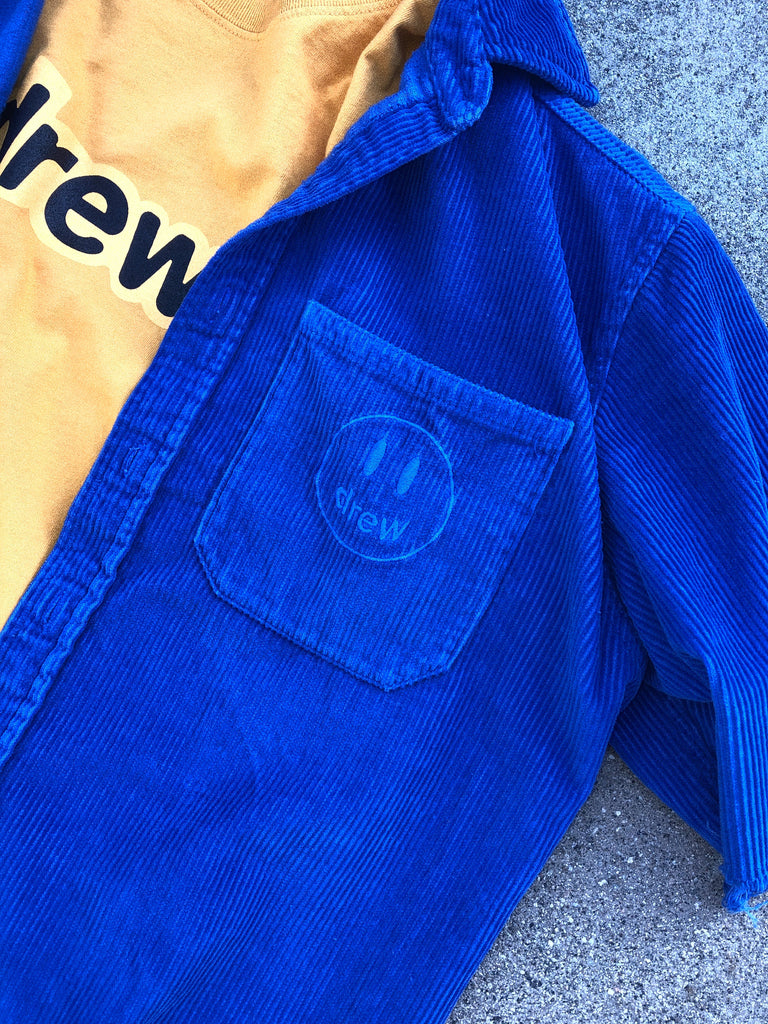 corduroy ss shirt - royal blue