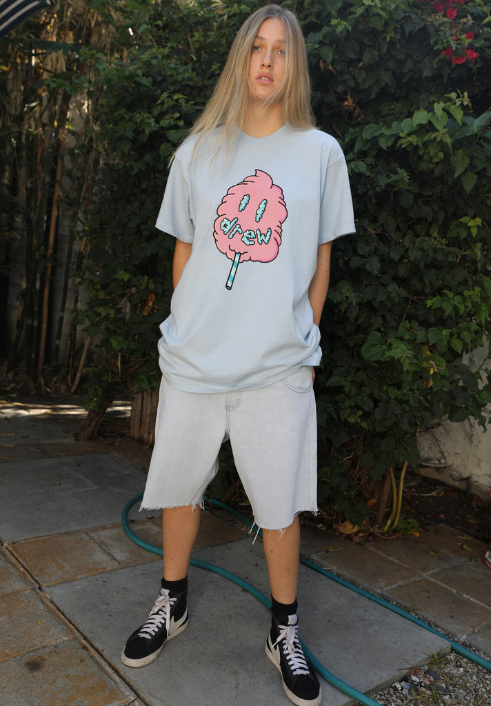 Cotton Candy SS Tee - Light Blue