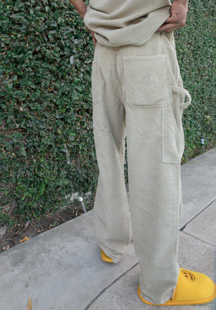 Drew Corduroy Carpenter Pants - Khaki