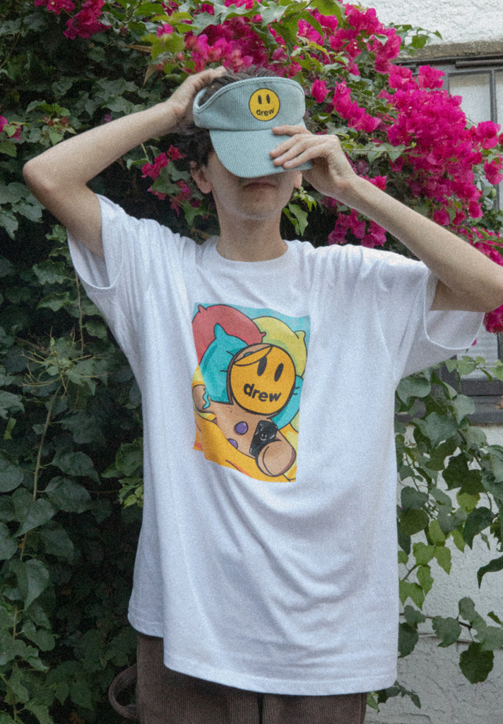 Gingerbread drew SS Tee - White