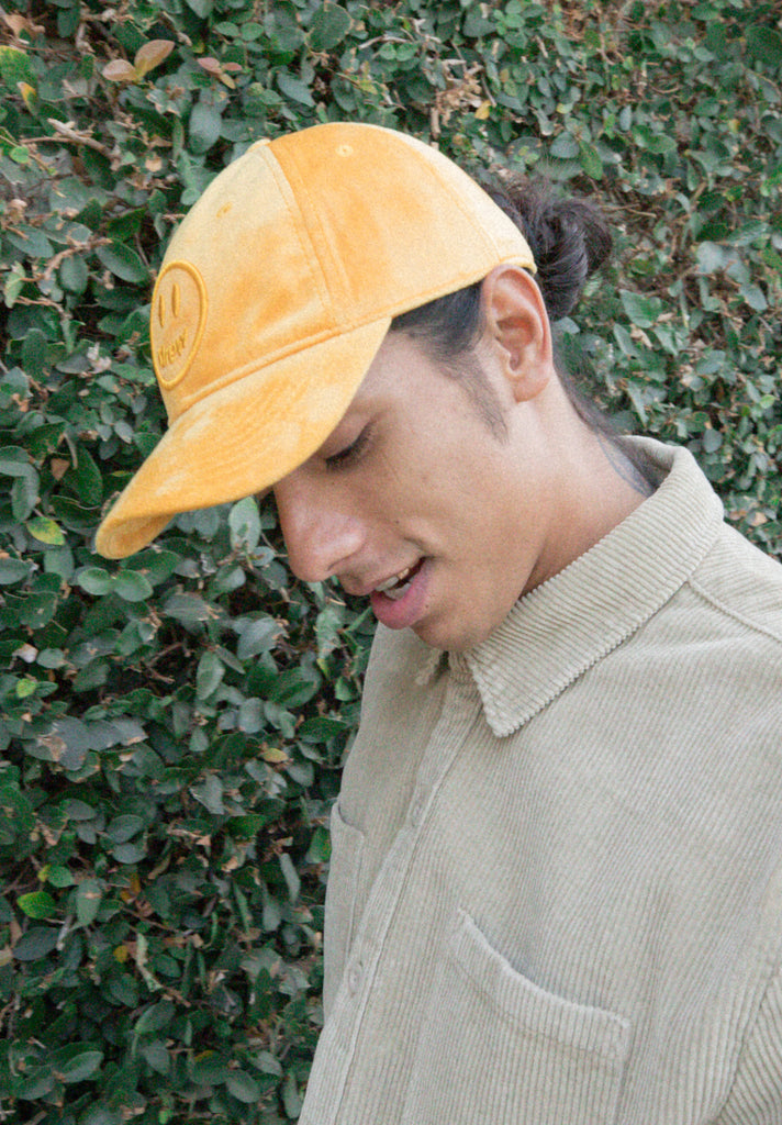 Drew Velour Hat - Golden Yellow