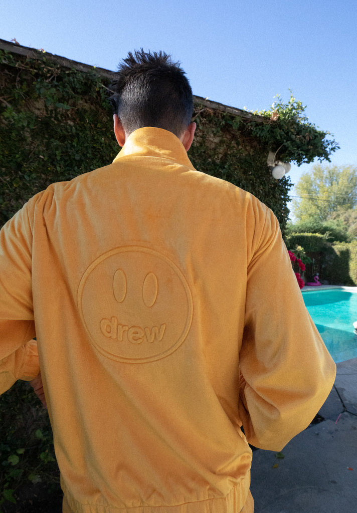 Drew Velour Track Top - Golden Yellow