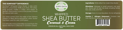 Whipped Shea Butter - Coconut & Cocoa 226ml - Alepposavon