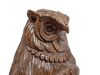 Hand Carved Walnut Wood Owl