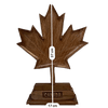 Hand Carved Walnut Wood Maple Leaf