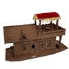 Hand Carved Walnut Wood House Boat