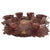 Hand Carved Copper Tea Set with Plates ( Set of 6)