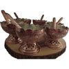 Name: Copper Leaf Carved Dessert Bowl(Set Of 6)