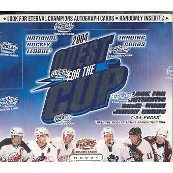 2003/04 Pacific Quest for the Cup Hockey Hobby Box - Pastime Sports & Games