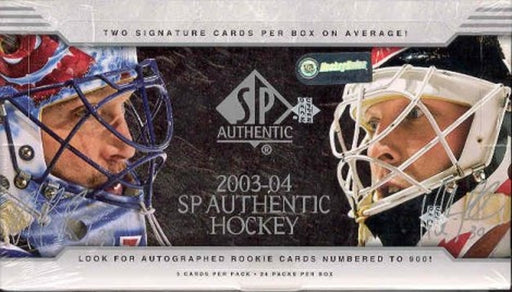 2003/04 Upper Deck SP Authentic Hockey Hobby box - Pastime Sports & Games