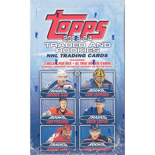 2003/04 Topps Traded & Rookie NHL Hockey Hobby Box - Pastime Sports & Games