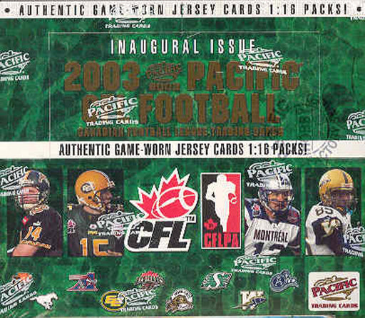 2003 Pacific CFL Hobby Football Box - Pastime Sports & Games