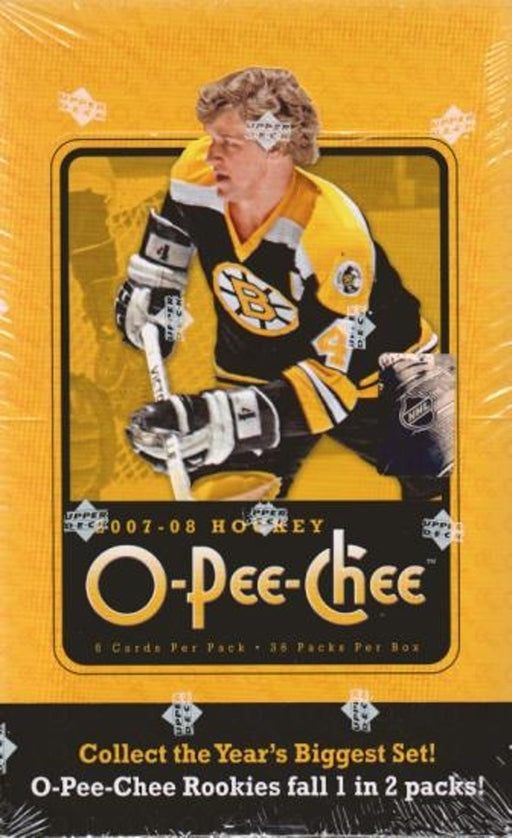 2007/08 Upper Deck O-Pee-Chee Hockey Hobby Box - Pastime Sports & Games
