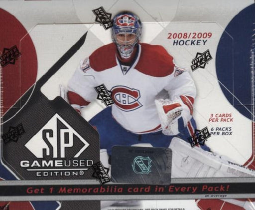 2008/09 SP Game Used Hockey Hobby Box - Pastime Sports & Games