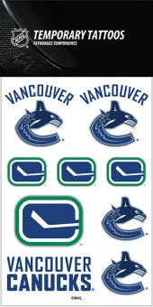 NHL Vancouver Canucks Temporary Tattoos - Pastime Sports & Games