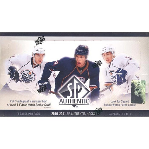 2010/11 Upper Deck SP Authentic Hockey Hobby Box - Pastime Sports & Games