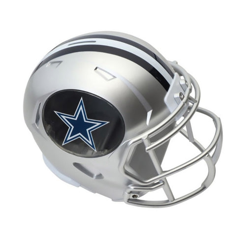 Dallas Cowboys Football Piggy Bank Helmet (Silver FOCO) - Pastime Sports & Games