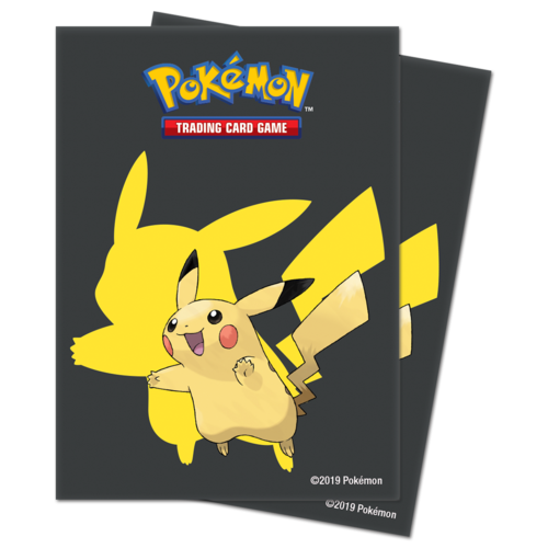 Ultra Pro Pokemon Deck Protector Sleeves 65ct Black Pikachu - Pastime Sports & Games