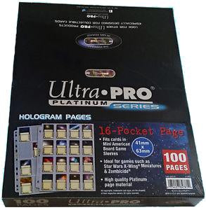 Ultra Pro Platinum Series 16-Pocket Pages - Pastime Sports & Games