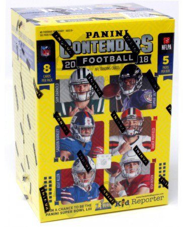 2018 Panini Contenders Football Blaster Box - Pastime Sports & Games
