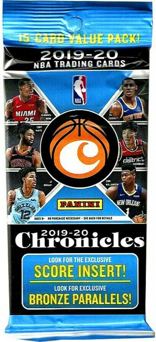 2019/20 Panini Chronicles Basketball Fat Pack - Pastime Sports & Games