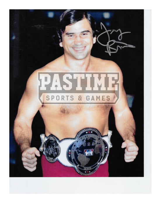 Gerald Brisco Autographed Wrestling Photo 8x10 - Pastime Sports & Games