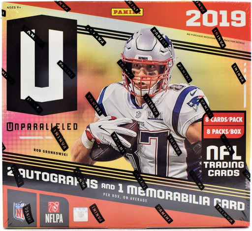 2019 Panini Unparalleled Football Hobby - Pastime Sports & Games