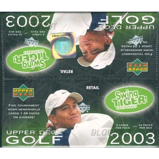 2003 Upper Deck Golf Retail - Pastime Sports & Games