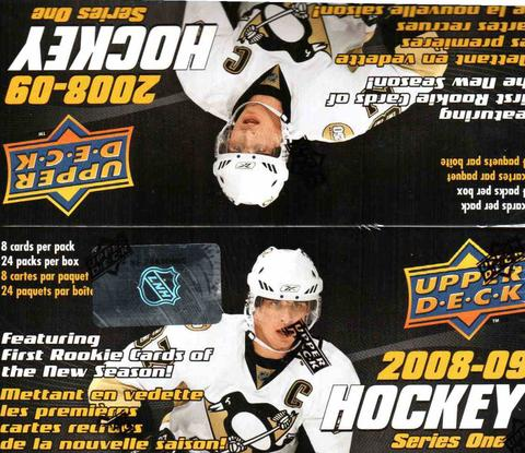 2008/09 Upper Deck Hockey Series 1 Retail - Pastime Sports & Games
