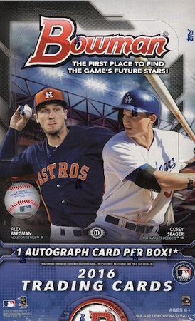2016 Topps Bowman Baseball Hobby - Pastime Sports & Games