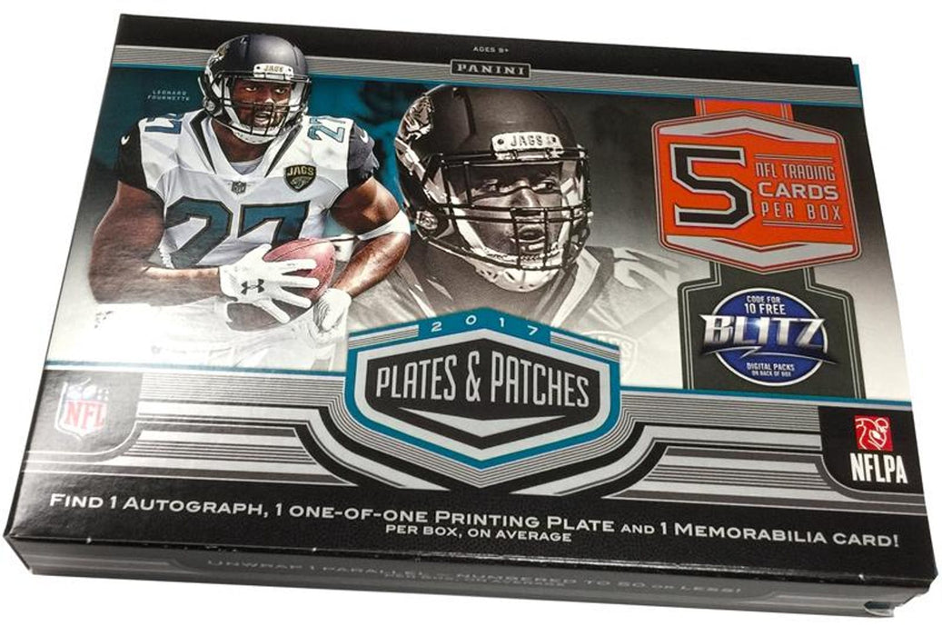 2017 Panini Plates & Patches Football Hobby - Pastime Sports & Games