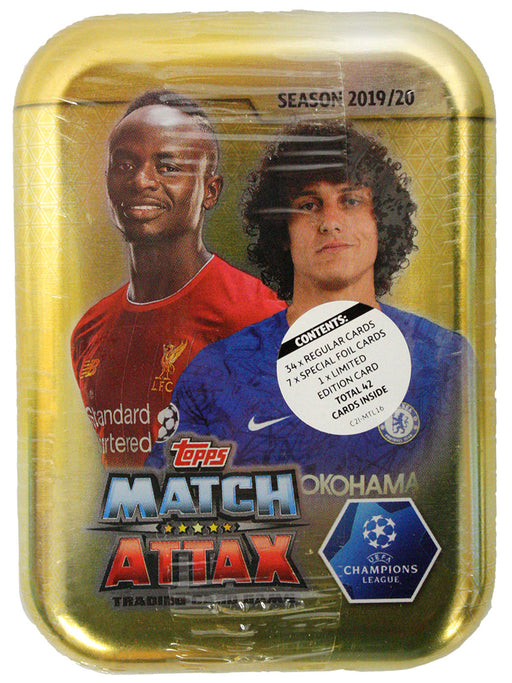 2019/20 Topps Match Attax Soccer Champions League Mini Tin - Pastime Sports & Games