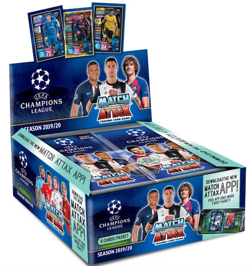 2019/20 Topps Match Attax Championship UEFA League Soccer Hobby
