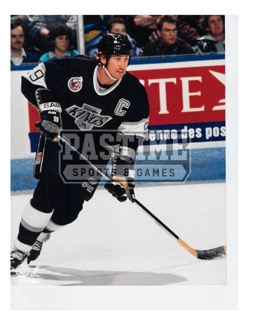 Wayne Gretzky 8X10 L.A Kings Home Jersey (Skating with Stick) - Pastime Sports & Games