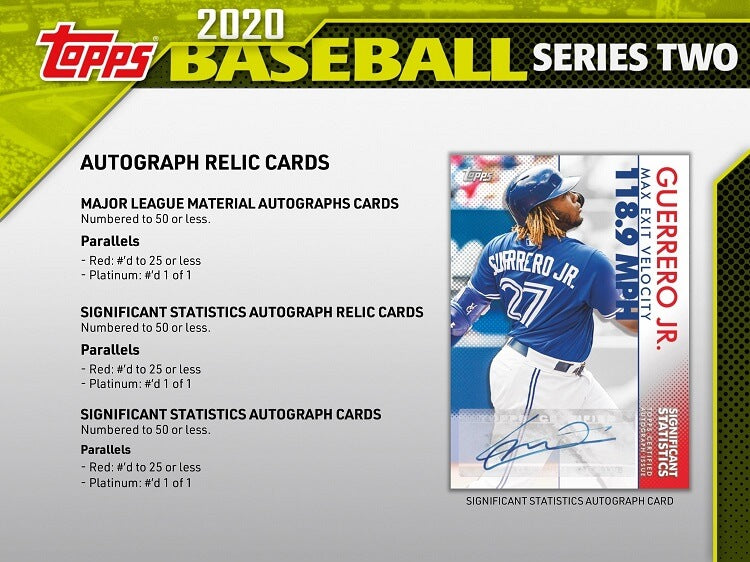 2020 Topps Series Two Hobby Baseball - Pastime Sports & Games
